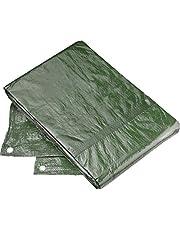 Connex FLOR80445 Beschermzeil, 3 x 4 m, 80 g/m2, aan beide zijden gecoat, waterafstotend en UV-gestabiliseerd, schimmelbestendig, van polyethyleen, zeildoek, afdekzeil, tuinzeil, 3 x 4 m
