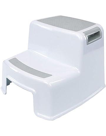LHDDWY Taburete de Doble Altura de 2 pelda/ños para Inodoro de Entrenamiento Antideslizante para ni/ños Taburete de ba/ño para ni/ños