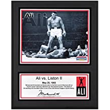 "Muhammad Ali Sublimated 12"" x 15"" Ali vs. Liston II Plaque - Boxing Plaques and Collages"