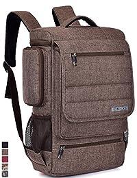 Laptop Backpack ,BRINCH(TM) Multifunctional Unisex Luggage & Travel Bags Knapsack,rucksack Backpack Hiking Bags Students School Shoulder Backpacks Fits Up to 17.3 Inch Laptop Macbook Computer,Brown