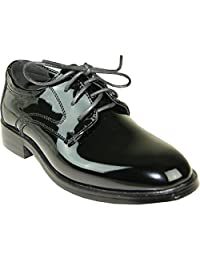 VANGELO Boy Tuxedo Shoe TABKID Round Toe Designed for Wedding and Formal Events with Wrinkle Free Material