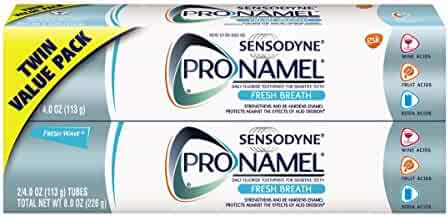 Sensodyne Pronamel Toothpaste for Tooth Enamel Strengthening, Fresh Breath, 4 Ounce (Pack of 2)
