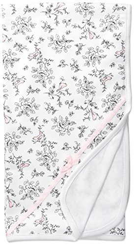 Little Me Baby Girls' Bird Toile Blanket, White