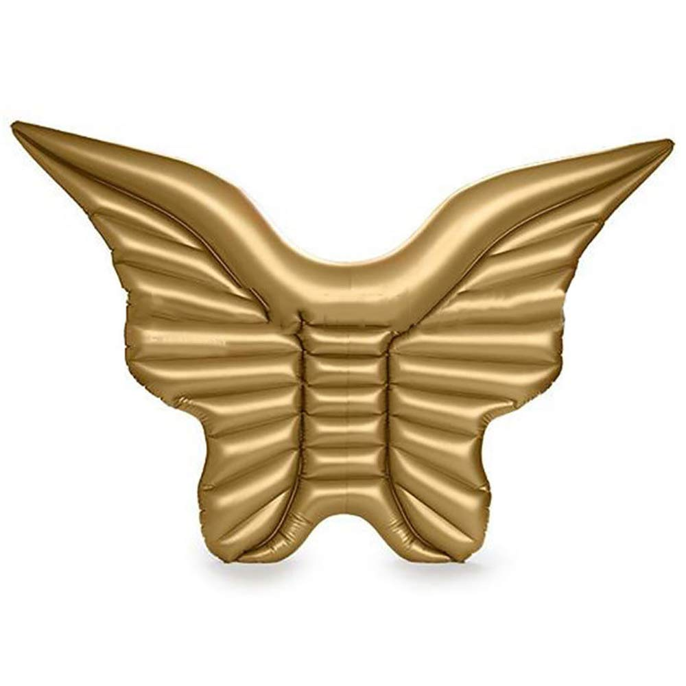 gold Inflatable Pool Float Inflatable Water Float Angel Wings Inflatable Floating Raft Pool Lounger Butterfly Swimming Ring,gold