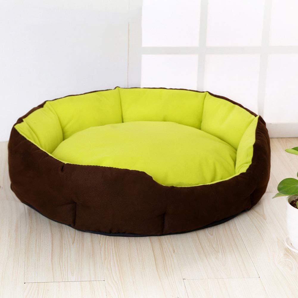 2 BX Pet Mat, Doghouse Cat House Detachable and Washable Pet Nest Wear Resistant Bite Pet Bed (Size Outer diameter,XL  60 × 60cm)