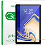 Tab S4 Screen Protector, Habyby Shield [S Pen Compatible] Double Defend Tempered Glass Screen Protector Film for Samsung Galaxy Tab S4 [10.5 Inch][Clear][1 Pack]