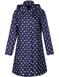 Women's Packable Waterproof Rain Jacket Poncho Raincoat with Hood