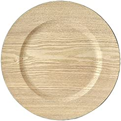 Wood Grain Dinnerware plate Charger 13  diameter  sc 1 st  Amazon.com & Amazon.com: Wood - Charger u0026 Service Plates / Plates: Home u0026 Kitchen