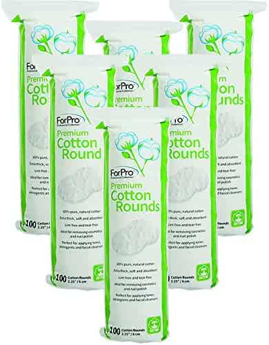 For Pro Premium Cotton Rounds, 2.25 Inch, 600 Count