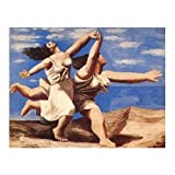 Posters: Pablo Picasso Poster Art Print - Two Women Running On The Beach (12 x 9 inches)