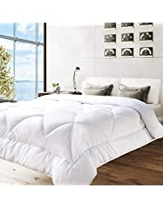 BedStory Bedding All Season Comforter, Hotel Down Alternative Quilted Comforter with Soft Plush Microfiber Fill (350 GSM) - Warm Fluffy Box-Stitching Comforter for Bed - Oeko-TEX Certified
