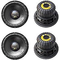 4) LANZAR MAX12D 12 4000W Car Audio Subwoofers Subs Power Woofers DVC 4 Ohm