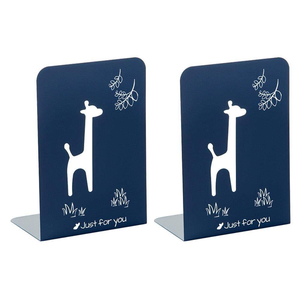 marcas en línea venta barata azul Estante para Libros Libros Libros Estantería De Hierro Forjado Librería De Dibujos Animados Oficina Almacenamiento Librería 19.7x10 X13.4cm (Color   azul)  mejor vendido
