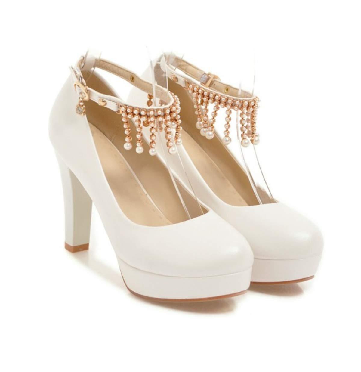 HBDLH Damenschuhe/Im Herbst 11Cm Hat Super-High-Heels Einzelne Schuhe Mode Schuhe Wasser Läuft Hasp Prinzessin Schuhe Wilde Frauen Schuhe.