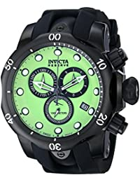 Invicta Men's 80576 Venom Analog Display Swiss Quartz Black Watch