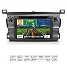 "AIMTOM AMN-4717-MB 2013-2017 Toyota RAV4 In-dash GPS Navigation Stereo Bluetooth DVD CD Head Unit 7"" Touch Screen AV Receiver FM AM Radio USB SD Multimedia Deck w/ Copyrighted NNG iGo Primo Maps"