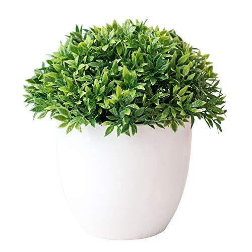 Turbobm Plantas Artificiales Bonsai Plantas de Maceta de arbol pequeno Flores Falsas Adornos en macetas para la decoracion del hogar Decoracion de jardin del Hotel Bonsai, Plantas Artificiales