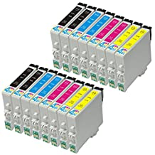16 Pack - Remanufactured Ink Cartridges for Epson #60 T060 60 T060120 T060220 T060320 T060420 Inkjet Cartridge Compatible With Epson Stylus C68 Stylus C88 Stylus C88Plus Stylus CX3800 Stylus CX3810 Stylus CX4200 Stylus CX4800 Stylus CX5800F