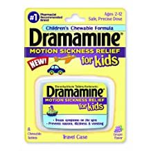 Dramamine Motion Sickness Relief for Kids 8 Ct (2 Pack)