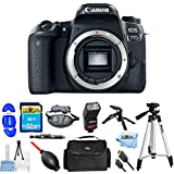Canon EOS 24.2MP 77D Digital Camera Body With Flash, Tripods, 32GB Memory Card, Gadget Bag/Case + Much More #1892C001 [International Version] (Pro Bundle)