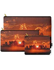 Society6 Flaming Horses Over The Foggy Sunrise Carry-All Pouch
