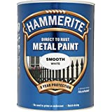 Hammerite Metal Paint Smooth 5L White by Hammerite