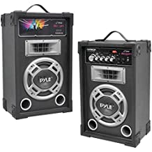 Pyle Pro PSUFM835A Dual 800W Disco Jam Powered 2-Way PA Speaker System Consumer Electronics