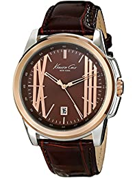 Kenneth Cole New York Men's KC8096 Classic Analog Display Analog Quartz Brown Watch