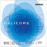 D'Addario Helicore Orchestral Bass String Set, 3/4 Scale, Light Tension - H610 3/4L
