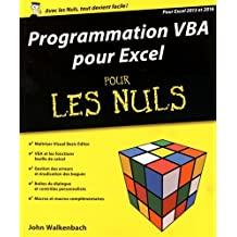 Programmation VBA pour Excel pour les Nuls: Pour Excel 2013 et 2016