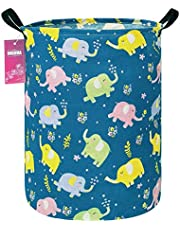 INGHUA Laundry Hamper Large Canvas Fabric Lightweight Storage Basket/Toy Organizer/Dirty Clothes Collapsible Waterproof for College Dorms, Boys and Girls Bedroom,Bathroom