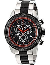 Versus by Versace Men's 'AVENTURA' Quartz Stainless Steel Casual Watch, Color:Two Tone (Model: SOC110015)