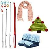 Huge Crochet Hook Set,9 Pieces Large Eye Blunt