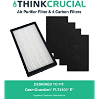 Replacements for GermGuardian E Filter & 4 Carbon Filters Fit AC4100 Series Air Purifier, Compatible With Part # FLT11CB4, by Think Crucial