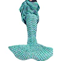 Kpblis Knitted Mermaid Tail 75-Inch–by–31-Inch Blanket...