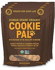 CookiePal Human Grade Dog Treats, Sweet Potato and Flaxseed Recipe, Organic Non-GMO, Simple Ingredients, 4 Pack - 6 oz Bags