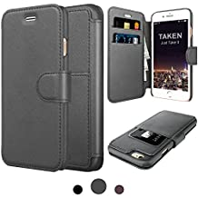 Taken Iphone 6 Leather Case - Iphone 6s Premium Leather Pu Wallet Cases ID Credit Card Slot Holder Phone Case Ultra Slim(gray)