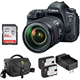 Canon EOS 6D Mark II DSLR Camera with EF 24-105mm f/4L IS II USM Lens plus Ruggard DSLR Shoulder Bag, LP-E6 Lithium-Ion Battery Pack Kit and 64GB Memory Card