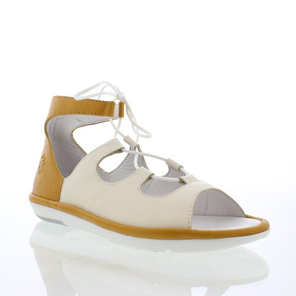 FLY London Women's MURA859FLY Sandal B0752LKJZK 36 M EU (5.5 US)|Off White/Honey Mousse