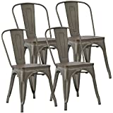 Amazon Com Metal Chairs Kitchen Dining Room Furniture Home