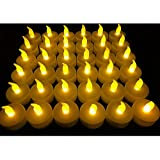Flameless LED Tea Light Candles, Vivii Battery-powered Unscented LED Tealight Candles, Fake Candles, Tealights (36 Pack)