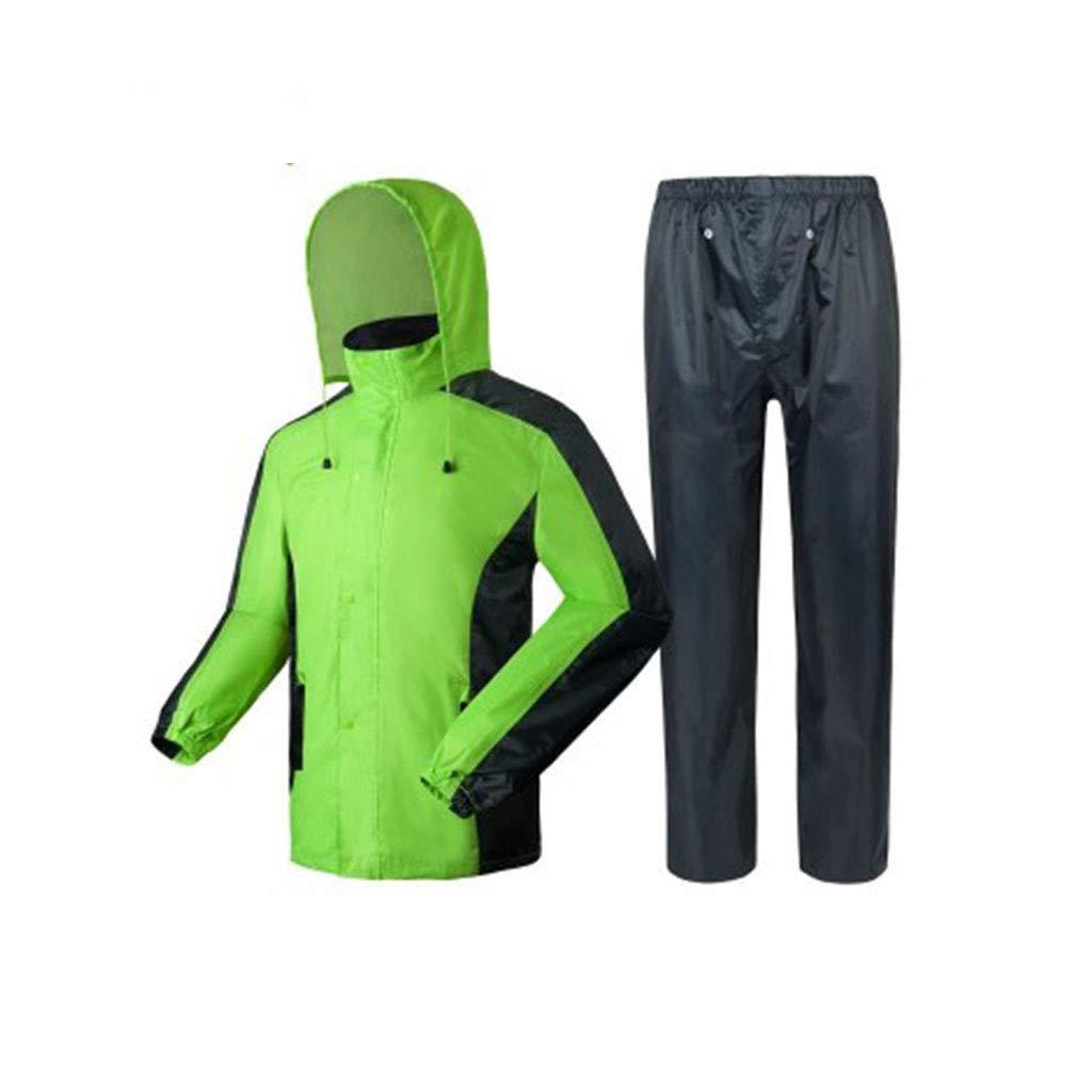 noir Plus vert XXXL Goquik VêteHommests imperméables Pantalon imperméable imperméable imperméable à l'eau de Pluie Costume Adulte imperméable Split imperméable, imperméable réutilisable V