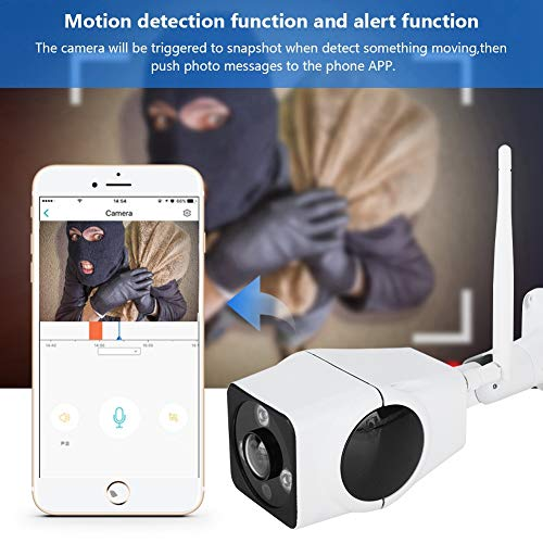 Pbzydu Wireless Camera, WiFi 360 Degrees Panoramic IP Fisheye Camera 3D VR Outdoor Waterproof Two Way Audio Security System for Home Office Apartment