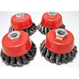 Canadian Tool and Supply (4-pack) 3-Inch Knot Cup Wire Brush 5/8-11nc (4xKCB-3)