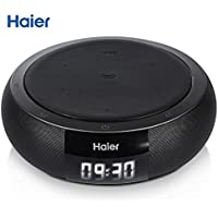 Haier Bluetooth 4.0 Speakers, Hifi Speaker with 5W Enhanced Bass, Dual Channel Stereo,Wireless Charger PowerPort Qi Wireless Charging Pad for Nexus, Nokia, LG, HTC and All Qi-Enabled Devices(Black)