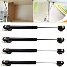 DerBlue 4 Pcs 100N/22.5lb Gas Strut Lift Support Cabinet Door Lift Pneumatic Support(black)