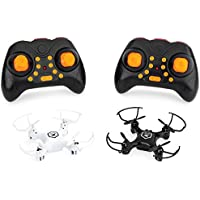 Best Choice Products Set of 2 3-Speed Beginners Mini RC Quadcopter Drones w/Remote, Headless Mode, 1-Key Return, Lights
