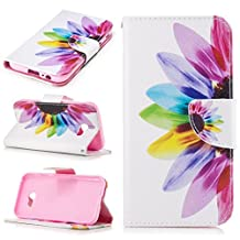 For Samsung Galaxy A5 (2017) Case Phone Protective Covers Shell Cover Premium PU Leather Wallet Cases [Magnetic Clasp, Card Slots,Stand,Flip]- Beautiful Rose