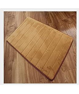 BanboYohi - Tappetino assorbente in memory foam a rimbalzo lento, antiscivolo, per camera da letto/bagno/cucina, cachi, 40*60cm