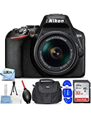 Nikon D3500 DSLR Camera with 18-55mm VR Lens 1590 - Essential Bundle Includes: Ultra 32GB SD, Memory Card Reader, Gadget Bag, Blower, Microfiber Cloth and Cleaning Kit photo